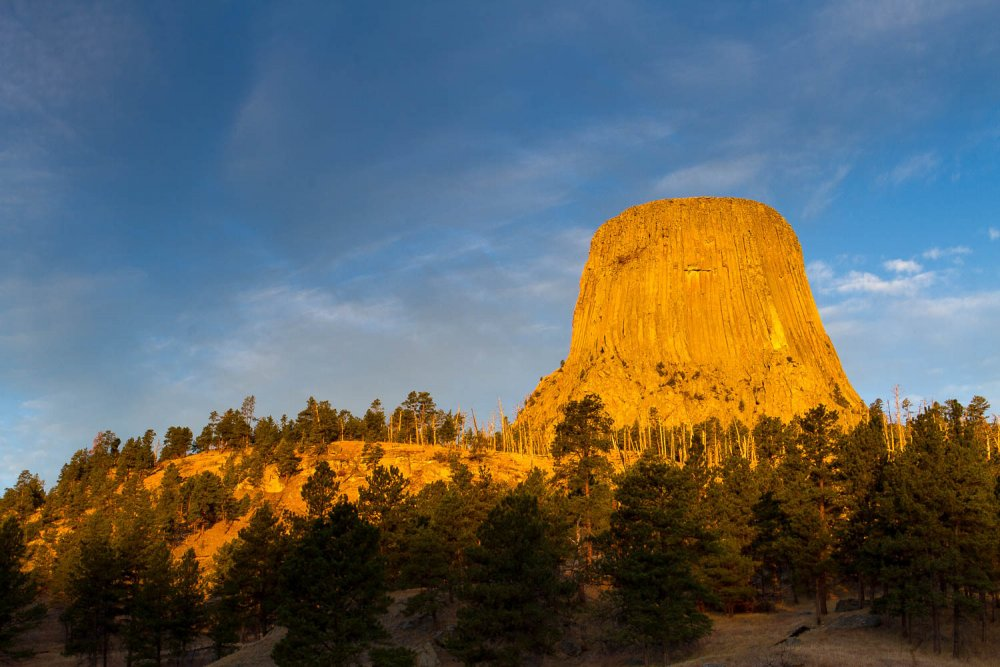 First Light on Devil's Tower