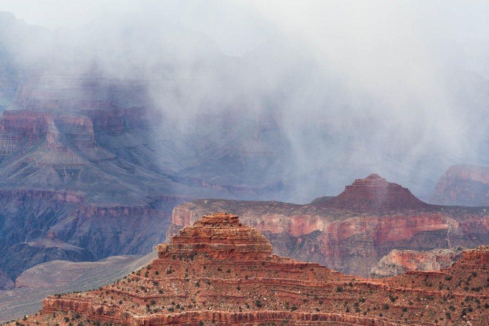 Snowfall over Grand Canyon
