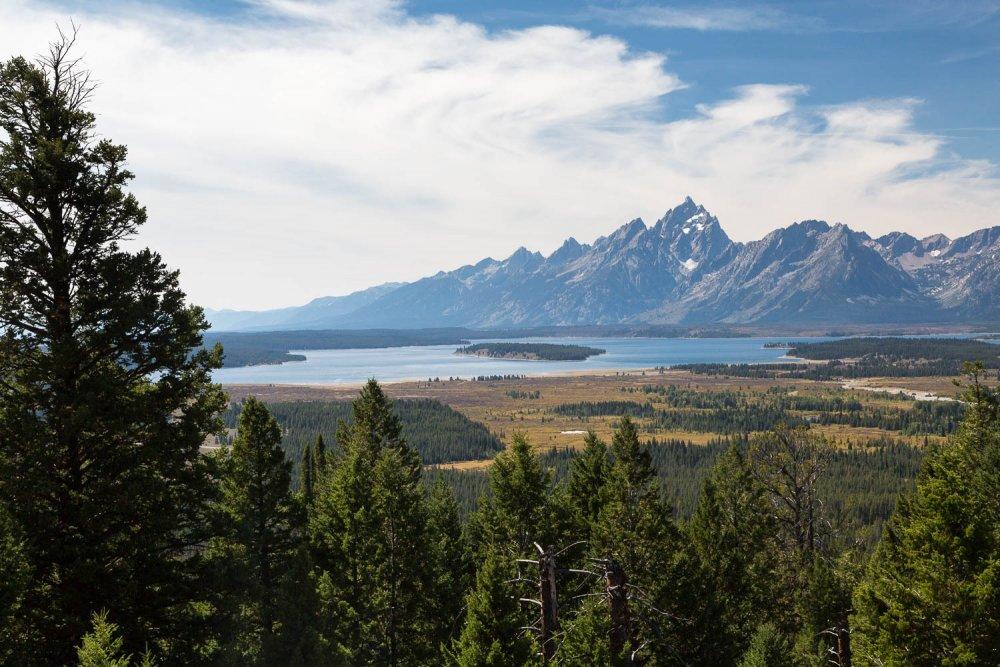 Jackson Lake and Teton Mountains