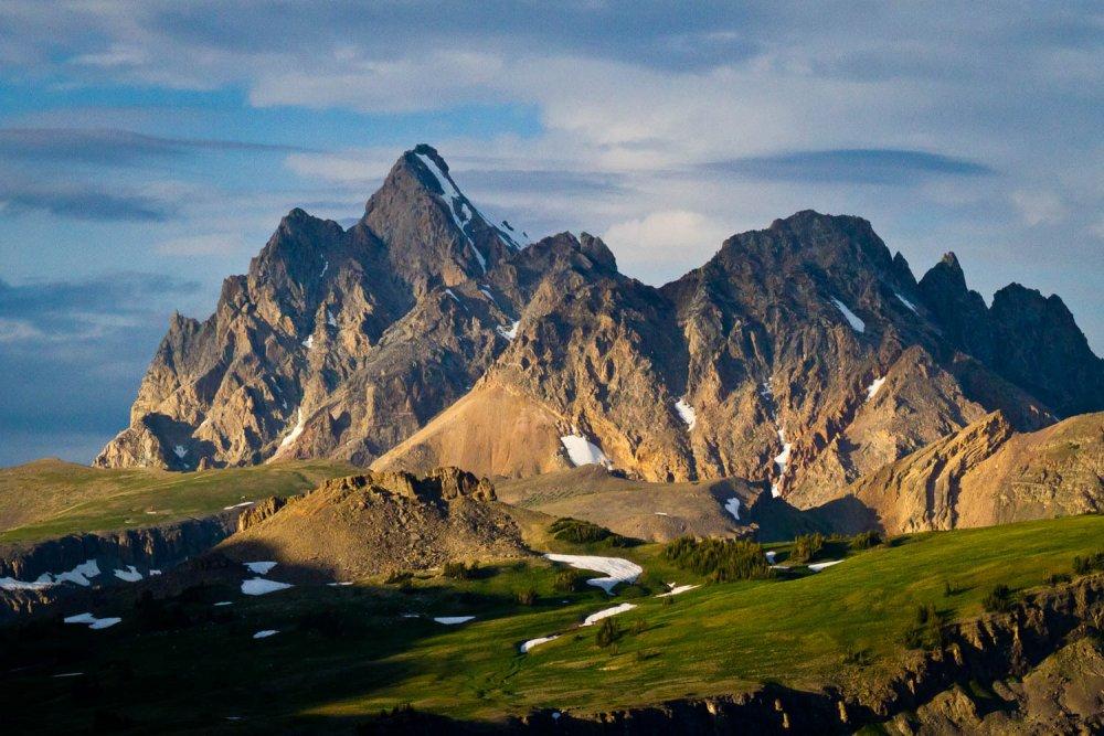 Teton Peaks in Summer
