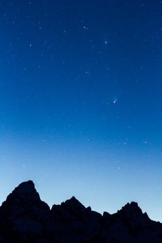 Morning Clouds over Teton Mountains