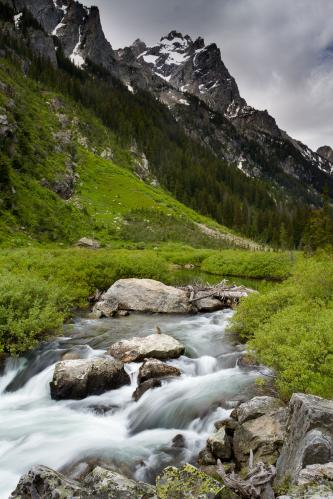 Boulders Below Granite Canyon Cliffs