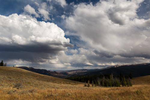 Hiker in Gros Ventre Mountains