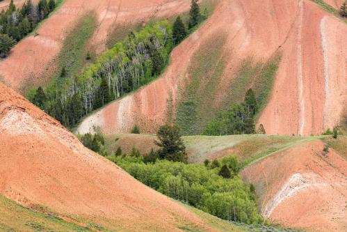 Snow Melt Pond and Mountains