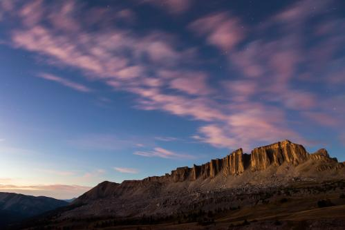 Moon Over Turquoise Lake
