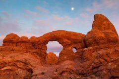 Moon Above Turret Arch