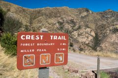 Huachuca Mountain Crest Trail Sign