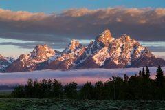 Sunrise on the Teton Mountains