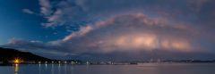 Storms over Tappan Zee Bridge