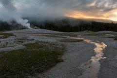 Runoff Flowing from Old Faithful Geyser