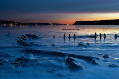 Piermont Pier Remnants in Ice