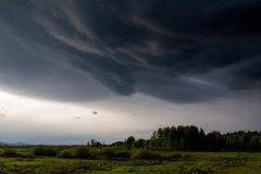 Dark Storm Clouds over Willow Flats