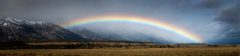 Shallow Rainbow in Front of the Tetons