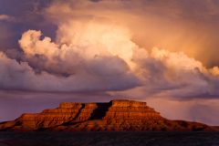 Rain and thunderstorms drop plenty of rain to a much needed desert in Valley of the Gods northeast of Mexican Hat, Utah
