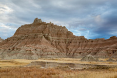 Eroded Hills and Native Grasses