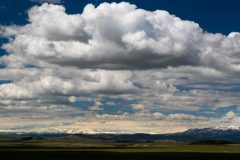 Heavy Clouds over Wyoming Desert