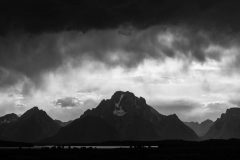 Clearing Storms Above Mount Moran