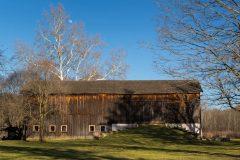 Moon Above Old Barn