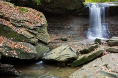 Blue Hen Falls and Fall Leaves