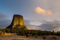 Sunset Clouds and Devils Tower