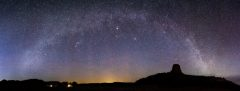 Milky Way Panorama Over Devils Tower