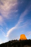 First Light on Devils Tower
