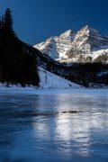 Maroon Lake Frozen in Early Winter