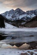 Peaks Reflected in Water