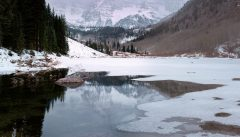 Maroon Lake Icing Over