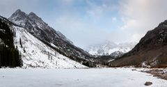 Winter Setting in Around the Maroon Bells