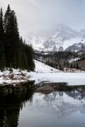 Snow and Winter on Maroon Bells