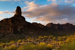 Dales Butte at Sunset