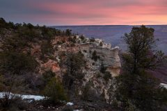 Colorful Clouds Above Grand Canyon