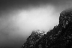 Early Snow Storm Engulfing Avalanche Canyon