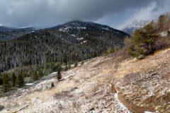 Taggart Lake Loop Trail Descending Toward Tetons
