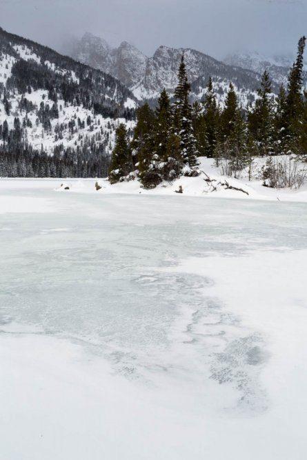 Frozen Taggart Lake