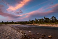 Gros Ventre River Below Sunset Clouds