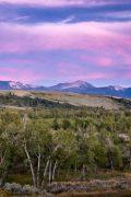 Jackson Peak Below a Twilight Sky