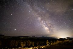 Milky Way Galaxy Stretching Out from Jackson