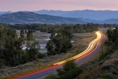 Cars Driving Along Gros Ventre Road