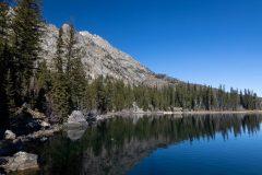 Jenny Lake Below Clear Blue Sky
