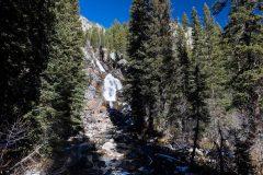 Hidden Falls Peeking Out from Forest
