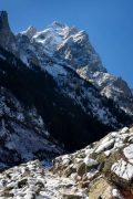 Snow on the Cascade Canyon Trail