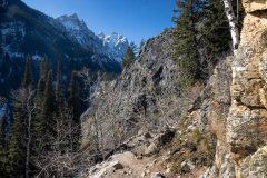 Inspiration Point Trail Below Cascade Canyon