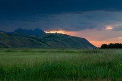 Stormy Sunset over Ranch