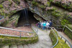 Tour Group Entering Cave