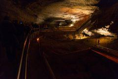 Walkways in Cave Corridor