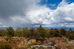 Stormy Weather over High Desert Forest