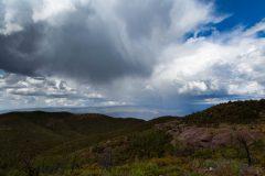 Rain Showers over Desert Mountains