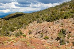 Storm Clouds over Rocky Terrain